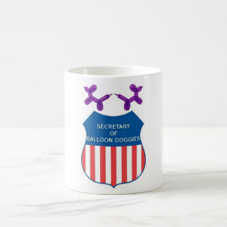 Secretary of Balloon Doggies Coffee Mug