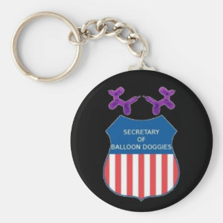 Secretary of Balloon Doggies Keychain