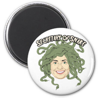 Secretary of State or Snake Hillary Clinton Button 2 Inch Round Magnet