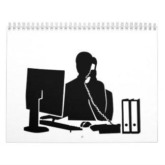 Secretary office woman calendar