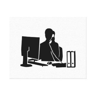Secretary office woman canvas print