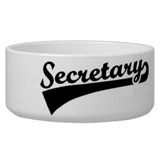 Secretary Dog Water Bowl