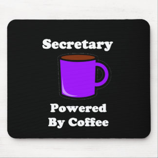 """""""Secretary""""  Powered by Coffee Mouse Pad"""