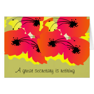 Secretary Retirement Card Bright Flowers Design