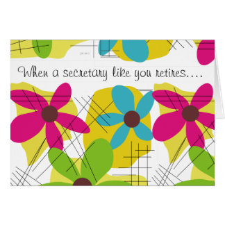 Secretary Retirement Card Floral Design