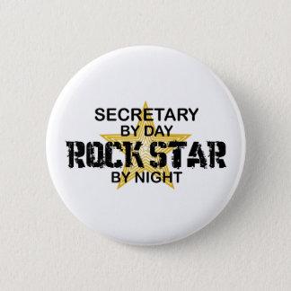 Secretary Rock Star by Night Button