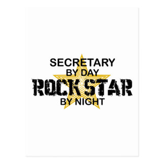 Secretary Rock Star by Night Postcard