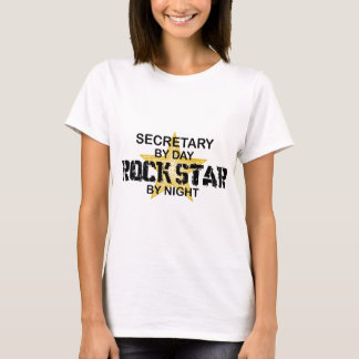Secretary Rock Star by Night T-Shirt