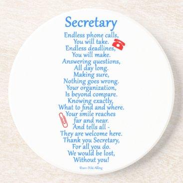 Secretary  Thank You Drink Coaster