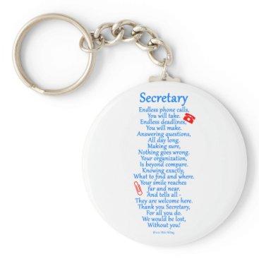 Secretary  Thank You Keychain