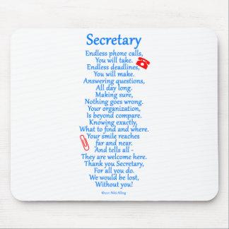 Secretary  Thank You Mouse Pad
