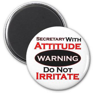 Secretary With Attitude 2 Inch Round Magnet