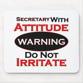 Secretary With Attitude Mouse Pad