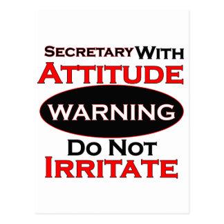 Secretary With Attitude Postcard