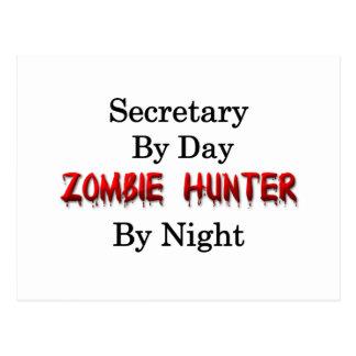 Secretary/Zombie Hunter Postcard