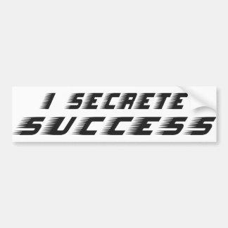 Secrete Success Car Bumper Sticker