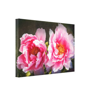 Secreted Away, Pink Peonies Gallery Wrapped Canvas