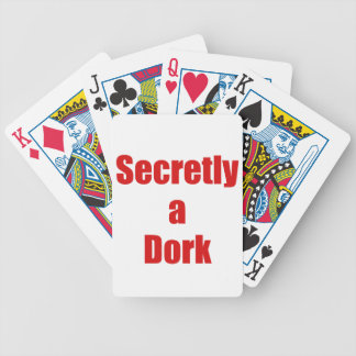 Secretly a Dork Bicycle Playing Cards
