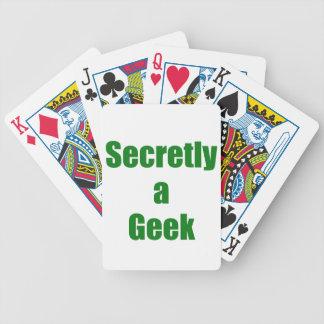 Secretly a Geek Bicycle Poker Cards