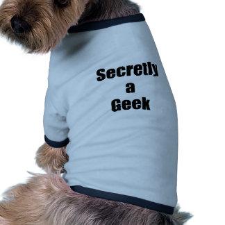Secretly a Geek Doggie Shirt
