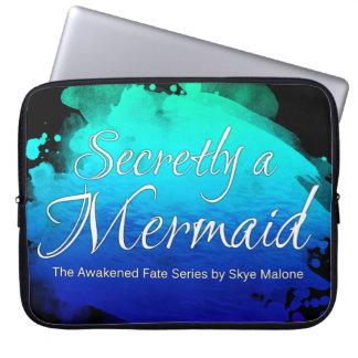 Secretly a Mermaid - 15in Laptop Sleeve Blue-Black