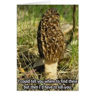 Secreto del cazador de la morilla tarjeta de felicitación