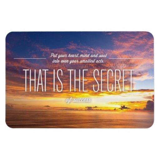 Secreto del éxito - cita de motivación iman