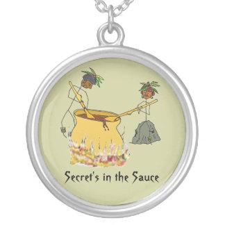Secreto en la figura cocineros del Salsa-Palillo Colgante Redondo