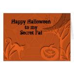 Secreto PAL del feliz Halloween Tarjeta De Felicitación