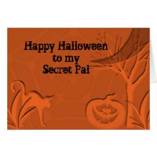 Secreto PAL del feliz Halloween Tarjeton