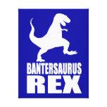 Secreto Santa de la burla de Bantersaurus Rex Uni Lona Estirada Galerias