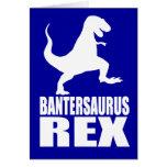Secreto Santa de la burla de Bantersaurus Rex Uni Tarjeta