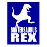 Secreto Santa de la burla de Bantersaurus Rex Uni Postales