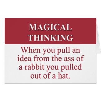 Secretos de (2) de pensamiento mágico tarjeta pequeña