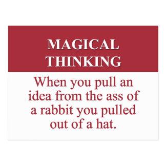 Secretos de (2) de pensamiento mágico postales
