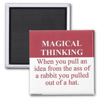 Secretos de (3) de pensamiento mágico imán cuadrado