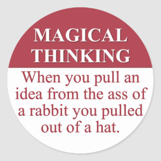 Secretos de (3) de pensamiento mágico pegatina redonda