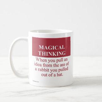 Secretos de (3) de pensamiento mágico taza básica blanca