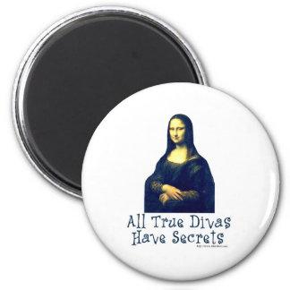 Secretos de la diva de Mona Lisa Imán Redondo 5 Cm
