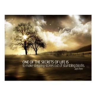 Secretos de la postal de motivación de la vida