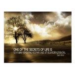 Secretos de la vida tarjeta postal