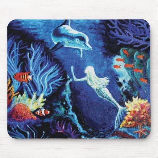 Secretos del arrecife de coral - cojín de ratón de tapete de raton