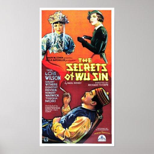 Secretos del pecado de Wu Poster