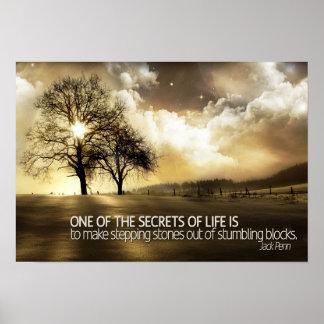 Secretos del poster de motivación de la vida