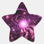 Secretos del universo reveladores parcialmente pegatina en forma de estrella