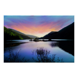 Secretos en el lago sunset póster
