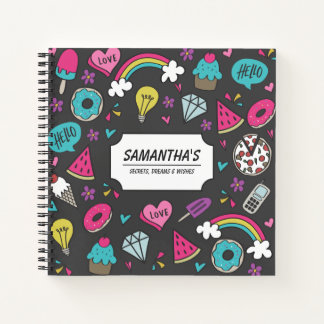 Secrets Dreams and Wishes Teens Diary Notebook
