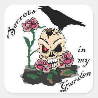 Secrets In My Garden Square Sticker