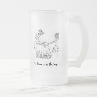Secret's in the Sauce 16 Oz Frosted Glass Beer Mug