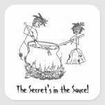 Secret's in the Sauce Square Stickers